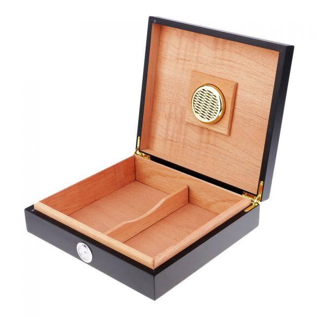 2PCS Spanish Cedar Wood Cigar Humidor Case W/ Humidifier Hygrometer Cigar Box