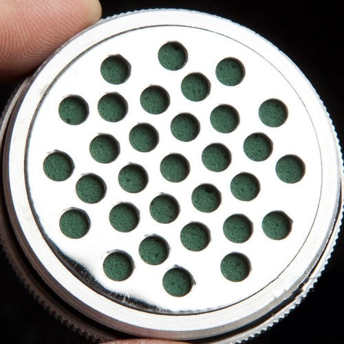 COHIBA Silver Aluminium Alloy Cigar Jar Tube Humidor W/ Humidifier Hygrometer