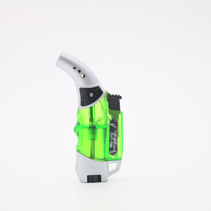2pcs/lot butane gas lighter for cigarettes spray gun lighter