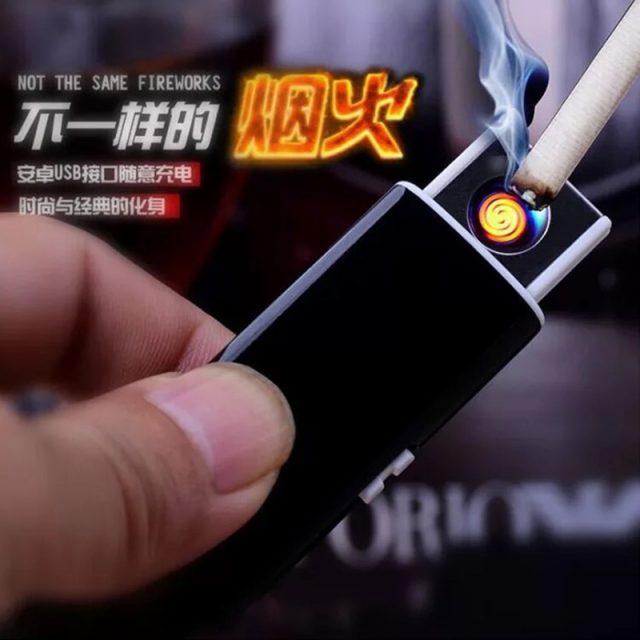 New Strip USB Lighter Rechargeable Electronic Lighter Metal Cigarette Turbo Lighter Flameless Double Side Cigar Plasma
