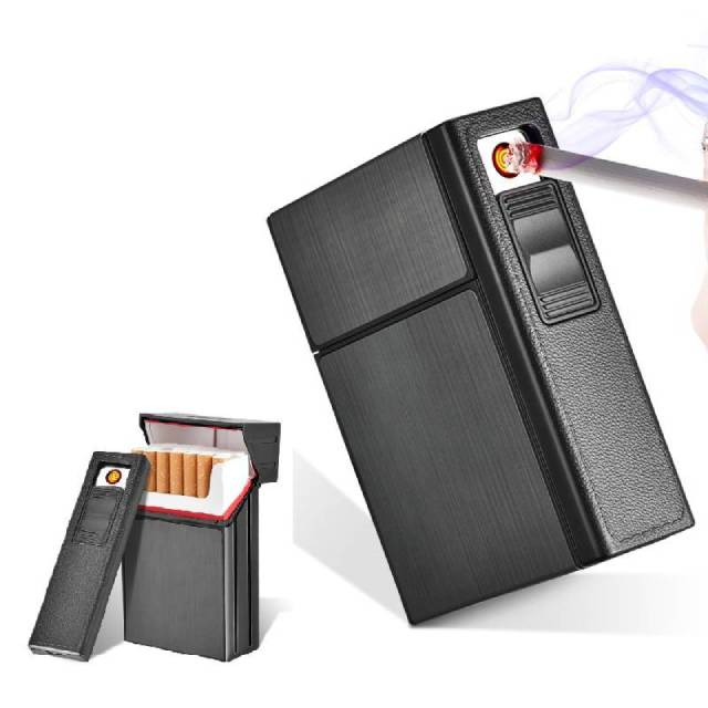Detachable Cigarette Case with Lighter Portable Metal Cigarette Holder Case Lighter Usb Eletronic Torch Jet Lighters