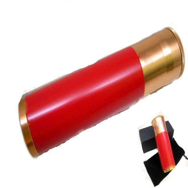 Red Cylindrical Cigar Hydrating Tube Humidor Aluminum Alloy Portable Travel Cigar Tube