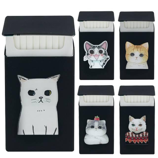 Exclusive Cats 3D Badge Slims Silicone Cigarette Case Lady Slim Case  Cover Elastic Rubber Women Cigarette Box