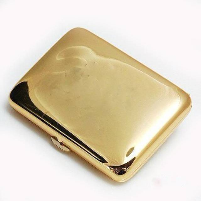 New 1 piece High quality Golden/Silver ( 16 cigarette case) cigarette boxes with  box